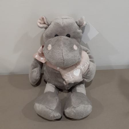 Hippo with Heart Plush Toy