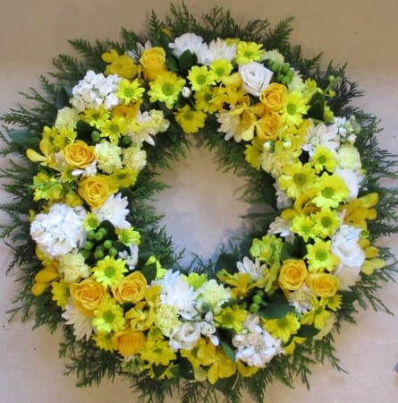 Large Round Funeral Wreath